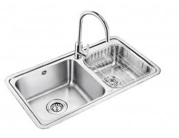 欧琳 不锈钢双槽厨盆308+7502