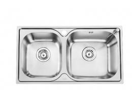 欧琳 不锈钢双槽厨盆307