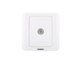 西门子 远景系列一位宽频电视插座带一分支(5-1000MHz)