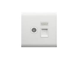 施耐德 丰尚系列单联超五类电视插座带保护门