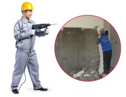 预处理-拆旧工程-敲墙服务