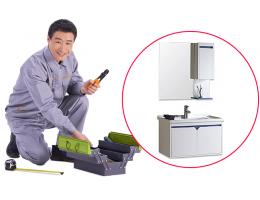 硬装-定制橱柜工程-定制浴室柜安装