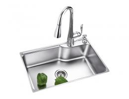 摩恩MOEN 水槽不锈钢单槽套装(22179+60201)