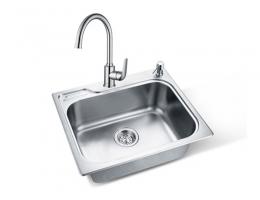 摩恩MOEN 水槽不锈钢(带皂液器孔)单槽套装 (22000R+60201)