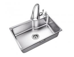 摩恩MOEN 水槽不锈钢单槽套装(22178+7594c)