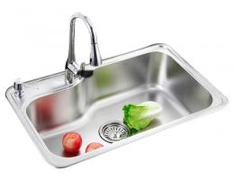 摩恩MOEN 水槽不锈钢单槽套装 (22027+60201)