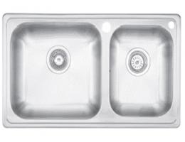 摩恩MOEN 水槽不锈钢双槽套装 (27104+60201)