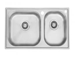摩恩MOEN 水槽不锈钢双槽套装 丝光面(27125sl+7594c)
