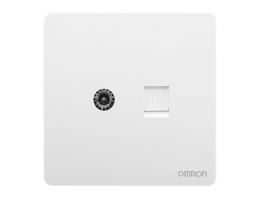 欧姆龙 电视+网络插座超六类 C4R-A86-TVT8A-B