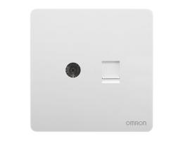 欧姆龙 电视+电话插座 C4R-A86-TVT2-B
