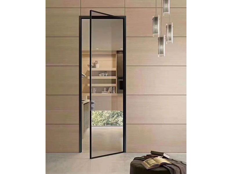 伟询室内门 极简门系列 铝合金生态门 钢化玻璃开门系列