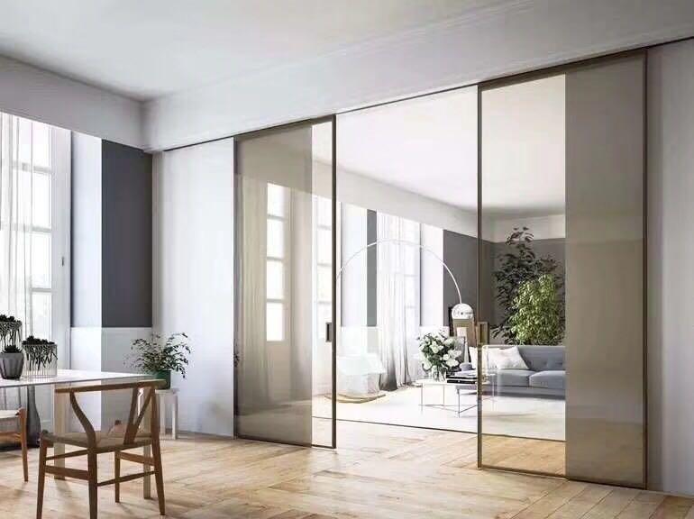 伟询室内门 极简门系列 铝合金生态门 钢化玻璃移门系列