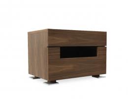 NM 北欧床头柜叠边柜床边柜桌橱设计师小户型简约现代柜多功能储物柜