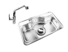 菊池水槽 厨盆龙头 大单槽 LN750+KT-31龙头套装