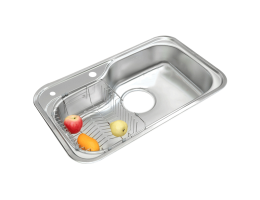 菊池水槽 厨盆龙头 大单槽RS840+TL-21龙头套装