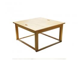 居家和室室内日式配件 旋转方桌 定制日式榻榻米配件