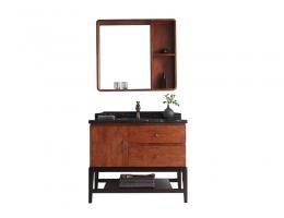 伯群浴室柜(6601-100)实木浴室柜 1m宽浴室柜
