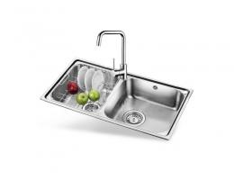 欧琳(OULIN)OLWG73420水槽+龙头套餐 304不锈钢洗菜盆洗碗池 厨房大双槽
