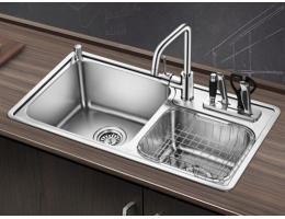 欧琳(OULIN)OL2205水槽+龙头套餐 304不锈钢 厨房双槽
