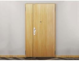 【novoferm德国诺沃芬子母门进户门】双开入户门木纹平板简约防盗门