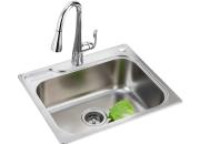 摩恩MOEN 水槽不锈钢(带皂液器孔)单槽套装 (22000R+7594c)