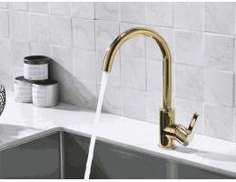 美生卫浴 全铜金色洗衣池龙头厨房洗菜盆水槽龙头360度旋转