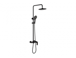 美生卫浴 全铜黑色淋浴花洒水龙头套装浴室卫生间淋浴器挂墙式洗澡花洒龙头