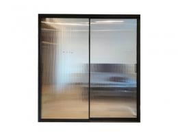 佐岚门窗 窄边框 2.8公分双层玻门