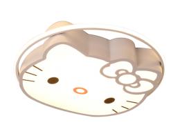 米蒂雅 儿童房亚博体育app下载地址_亚博体育app下载安卓版_亚博体育app苹果下载 女孩粉色kitty创意简约可爱卡通猫公主led卧室灯具
