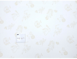 lilycolor/丽彩 现货进口日本PVC墙纸 北欧神话儿童图案和式卧室日式榻榻米 19013
