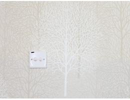 lilycolor/丽彩 现货进口日本PVC墙纸 杏灰色树林丛林图和式卧室日式榻榻米 10053/1