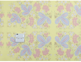 lilycolor/丽彩 进口日本PVC墙纸 大花纹大纹理 满铺背景卧室日式榻榻米10135/101