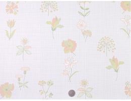 lilycolor/丽彩 现货日本PVC墙纸壁纸 浅绿色清新花朵植物系花纹背景墙 山月HFC2
