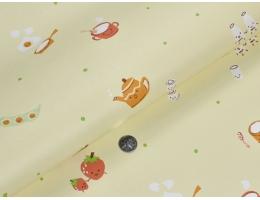 lilycolor/丽彩 进口日本PVC墙纸 儿童卡通图案面包草莓 丽彩8918