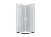 淋浴房定制-苏家定制10mm钢化玻璃6cm宽普通电泳铝合金边框-弧形淋浴房