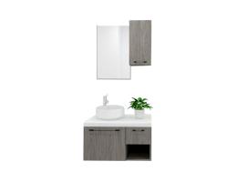 摩蓝定制-生态板柜体浴室柜-双抽屉+开放格式A005