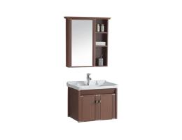 帝恩斯Westin酒店风格浴室柜-E0级生态板挂壁式浴室柜+微晶纳米釉面陶瓷盆+冷热水龙头