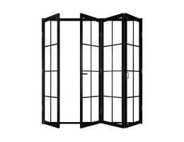 苏家定制-钛合金折叠门-单层钢化玻璃
